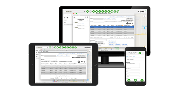 IQGeo Workflow Manager software interface