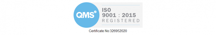 ISO 9001:2015. badge