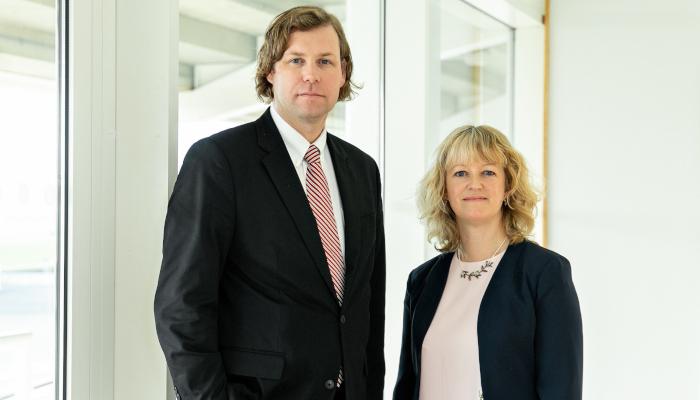 Mark Sutherland and Belinda Clarke