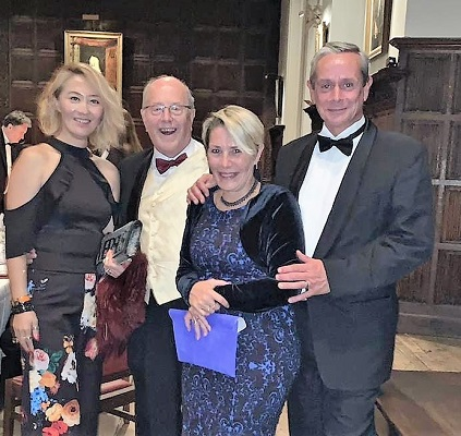 Chartered accountant David Brown  (second left) at an IoD dinner