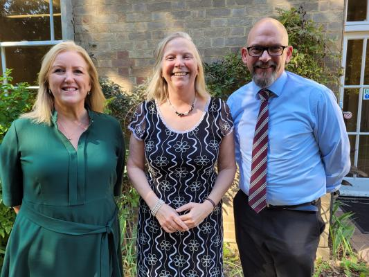L-R:  Jo Christian, Charlotte Avery and Robin Griffiths