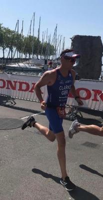 Jonathon Clarke, Cambridge Independent Financial Adviser competing in the World Triathlon Championships