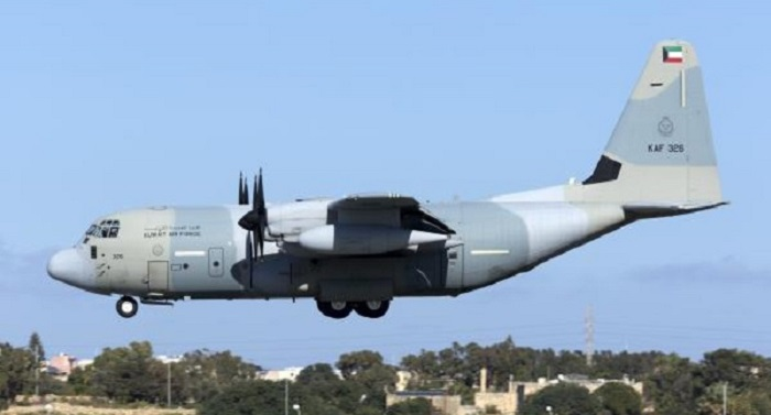 A Kuwait Air Force KC-130J tanker aircraft