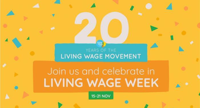 Living Wage Week 20th anniversary image