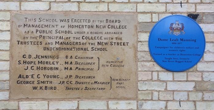 Blue plaque commemorates Dame Leah Manning