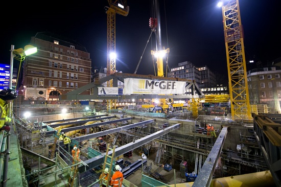 McGee Group construction work at Leicester Square London
