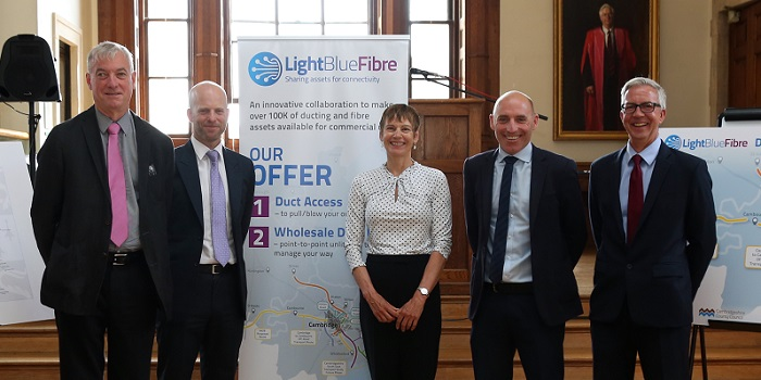 (left to right): Professor Ian Leslie (Chair of the LBF Board), Jon Holgate (Operations Director), Noelle Godfrey (Commercial Director),  Ritchie Carter (Operations Manager), Mark Andrews (Commercial Manager).