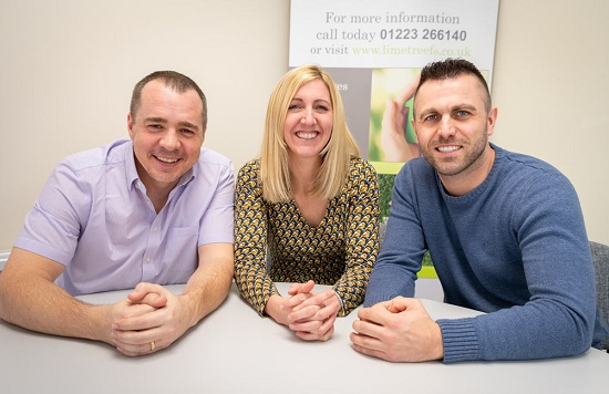 James Hammond (L) and other advisors at Limetree Financial Services