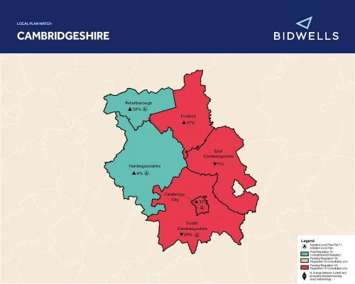 Bidwells Local Plan Watch Autumn 2020 map