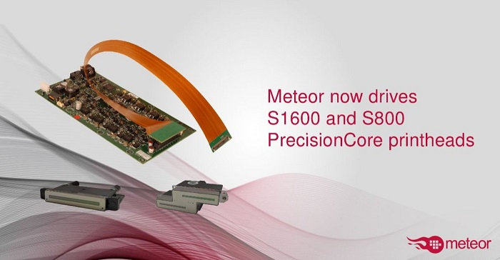 Meteor now drives S1600 and S800 PrecisionCore printheads_banner