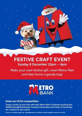 Metro Bank Christmas Craft Event poster