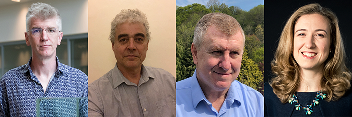 Four new members of the Babraham Institute Board: (L-R) Professor James Briscoe, Professor Peter Parker,Professor Gordon Brown and Alexandra Pygall