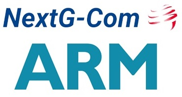 NextG-Com logo and ARM logo