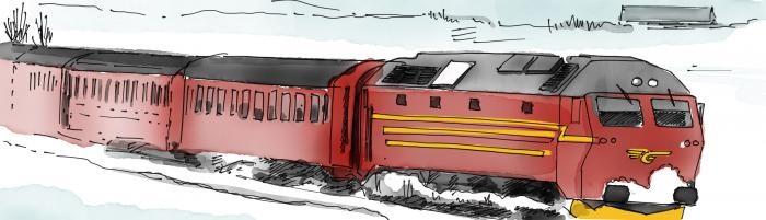 Norway train illustration