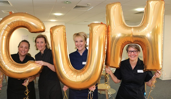 Chief nurse, Lorraine Szeremeta (third from right) with colleagues at the last open day.