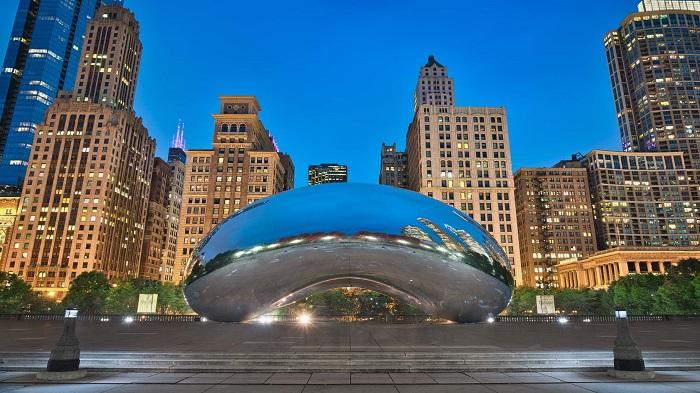 Millenium-Park-at-the-blue-hour_Chicago