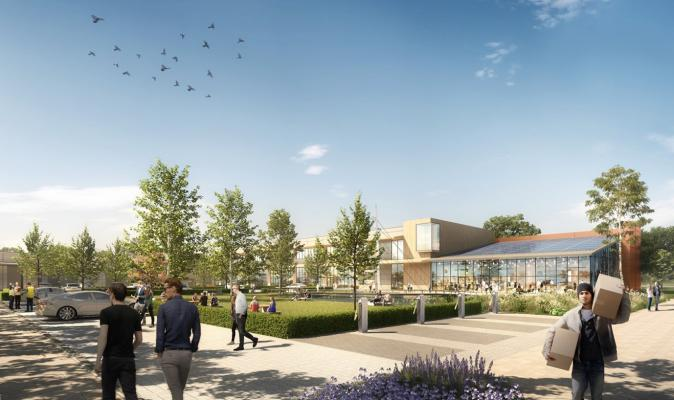CGI of new innovation park