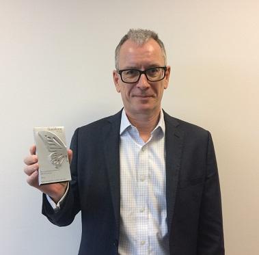 Professor Roderick Watkins with the Transform Award