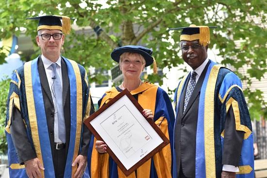 Professor Roderick Watkins, Dr Lynn Morgan, Lord Ribeiro