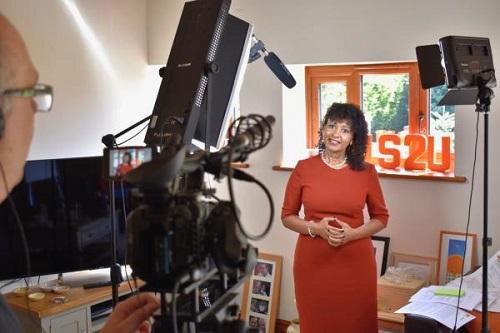US2U Consulting's Rachel Blackburn filming the Online Training Sessions