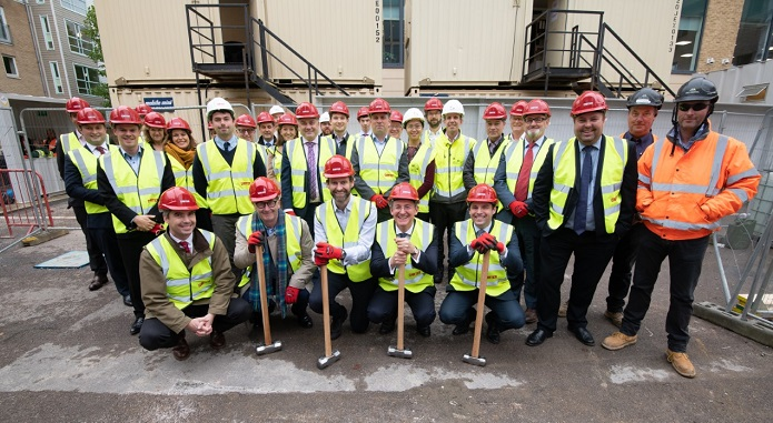 R G Carter team as it starts work on landmark building in Cambridge's CB1