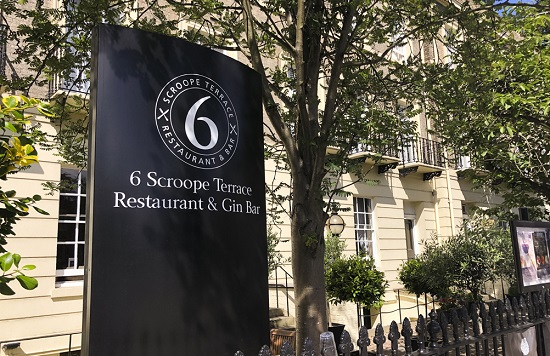6 Scroope Terrace sign