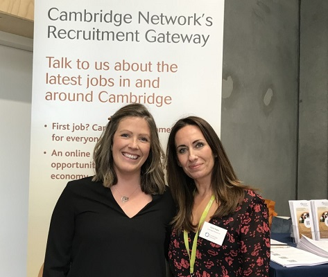 Ruth Carter (left) and Claire Angus of Cambridge Network's Recruitment Gateway team