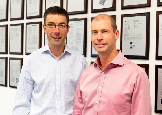 Scott White and Richard Price of PragmatIC Semiconductor