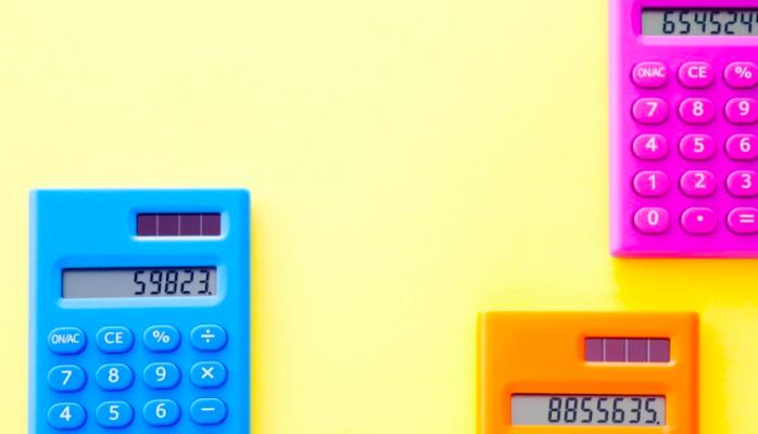 multi coloured calculators