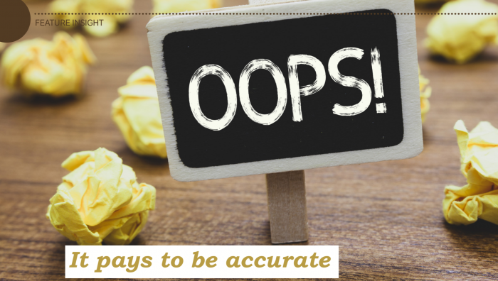 Accuracy errors