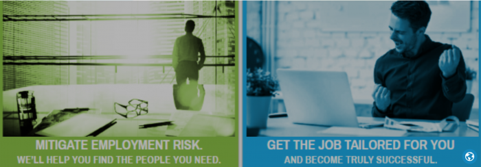 Banner : Mitigate employment risk/ get the job tailored for you