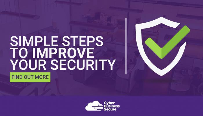 Simple steps to improve your online security banner