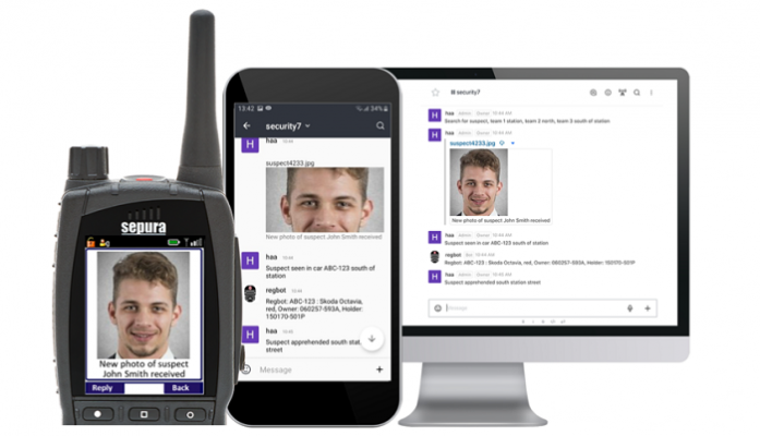 SmartChat enables text and image-based information to be shared to field officers using either TETRA radios or smart devices, without risking security by using commercial messaging applications.