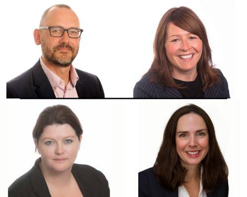 Top left: Andrew Banks, top right: Jean Boyle, bottom left: Sarah Lane, bottom right: Helen Tucker