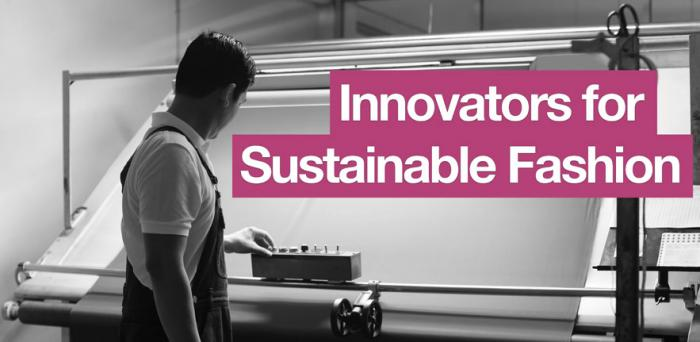 Innovators for sustainable fashion banner