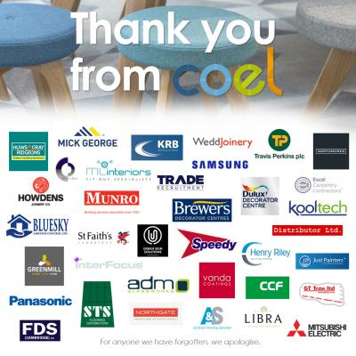 thank you trades from COEL banner