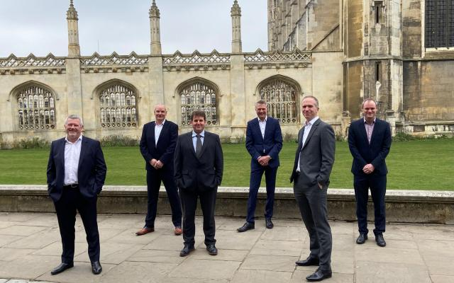 (From left to right) Alistair Rumbelow, Group CEO; Jerry Overhill, Group Operations Director; Dean Powell, Group MEP Director; Neil Cook, Group Director; Barnaby Clark, Group Sales and Marketing Director; David Williams, Group FD