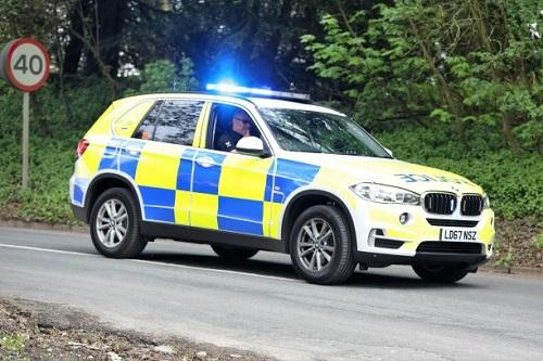 UK Police Vehicle with Sepura Mobile Radio LR