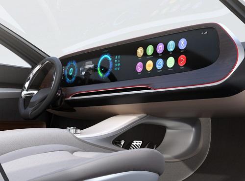 VMC Automotive_ infotainment console on car dashboard