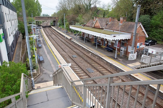 Whittlesford Station from the footbridge