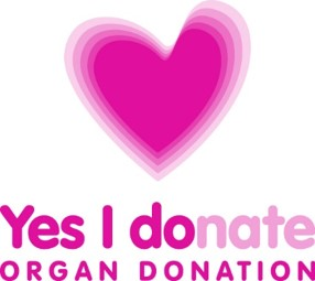 Yes I donate (organ donation) - graphic