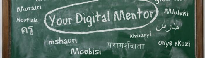 Your Digital mentor written on a blackboard