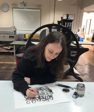 Zoe Ellison at work at Anglia Ruskin University