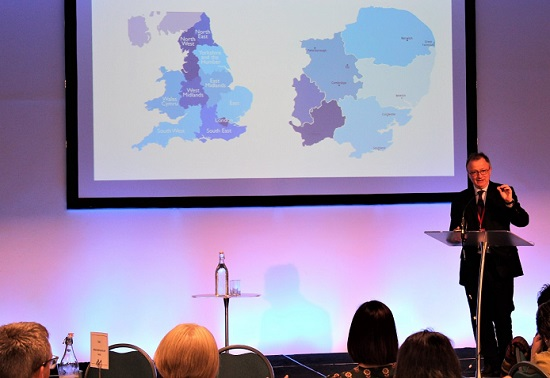 Professor Peter Jones, director for the NIHR ARC East of England and CPFT non-executive director with ARC map