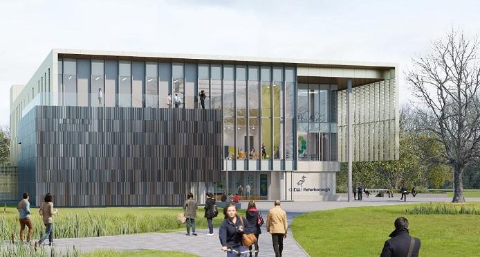 CGI of ARU Peterborough first teaching building