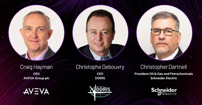 CEOs of  AVEVA , DORIS and Schneider Electric join forces_banner of head shots