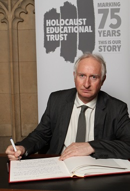 Cambridge MP Daniel Zeichner signs the Holocaust Educational Trust's Book of Commitment