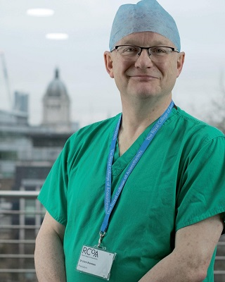 _Dr Liam Brennan in scrubs