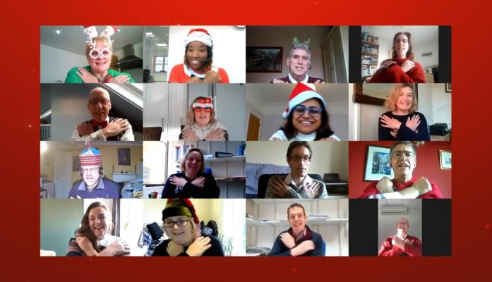The festive series then ended with the big reveal of a video rendition of the 12 days of Christmas by Hewitsons staff