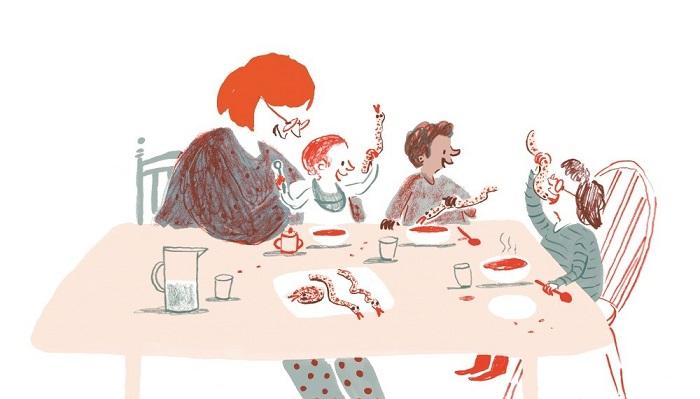Illustration from the recipe for 'snakey breadsticks'